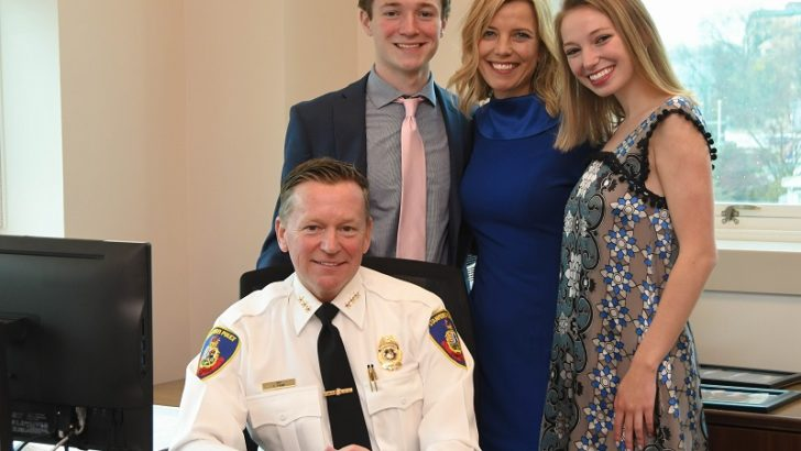 Stamford Mayor Martin Swears-in Police Chief Timothy J. Shaw