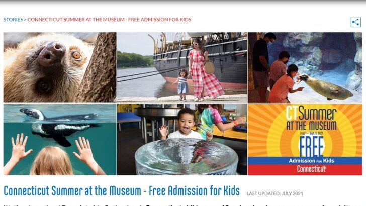 Connecticut children can enjoy many museums in the state free of charge this summer