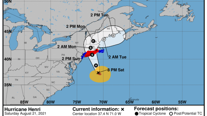 Eversource Increases Number of Possible Power Outages as Connecticut Braces for Hurricane Henri, restorations could go 8 to 21 days